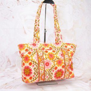 Vera Bradley Colorful Quilted Shoulder Tote
